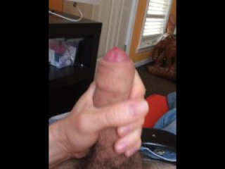 Stroking my uncut cock to Porn Hub