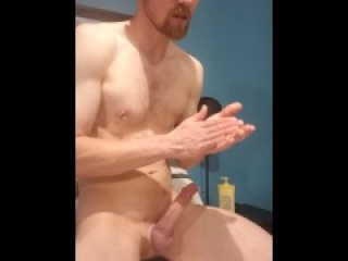 Masturbating to porn hub then cum shot