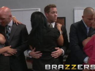 BRAZZERS - Lexi Swallow & Nicole Aniston get fucked in office 4some porm hub