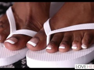 LoveHerFeet - Sneaky Interracial Foot Sex With My Super Sexy Neighbor