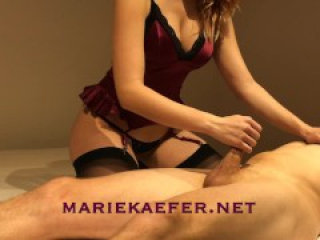 Marie gives sensual edging handjob in sexy lingerie - Marie Kaefer