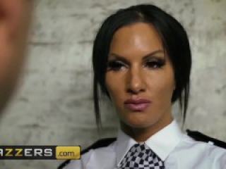 Brazzers - British cop Elicia Solis entraps some big cock