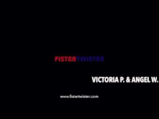 Fistertwister - Oiled up hairy pussy fisting