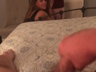 Wife sucks pornhub fan as husband watches ixxx porn hub hd